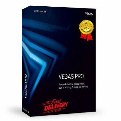 Sony Vegas Pro 16✔️Video Editing✔️Lifetime License✔️64bit✔ Fast Digital Delivery