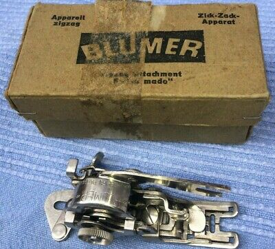Vintage Singer Simanco Buttonhole Attachment 86718 with Singer storage Box
