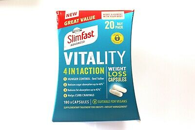 SlimFast Advanced Vitality 4 In 1 Action Weight Loss Capsules - 180 Capsules