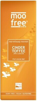 Moo Free Cinder Toffee Cocoa Bar 80g (Pack of 12)