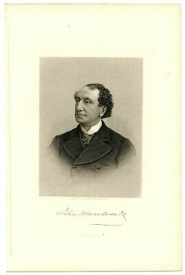 JOHN A MacDONALD, First Prime Minister of Canada, Steel Engraving 825
