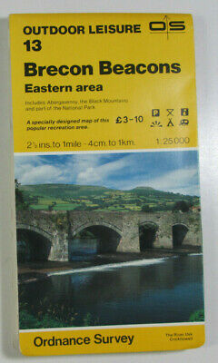 1976 Old OS Ordnance Survey Outdoor Leisure Map 13 Brecon Beacons Eastern Area