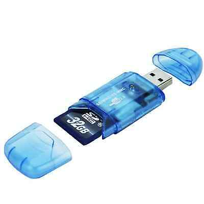 New USB Card Reader Adapter For SD SDHC MMC Memory Card Up to 64GB