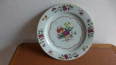 Antique chinese export porcelain plate. XVIIIth C. Ancienne  Assiette Chine....Z
