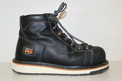 """Timberland Pro Mens Boot Sz 8.5 M Gridworks 6"""" Alloy Safety Toe Black Leather"""