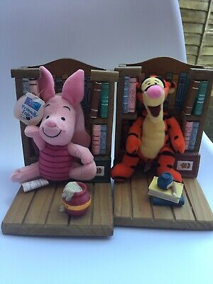 Winnie The Pooh Piglet & Tigger Bookend Buddies Bookends Books Plush Figures