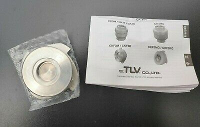 "TLV CKF3M Stainless Steel Flangeless Check Valve, Disc Type, 1"" BSP"