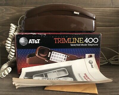 Vintage AT&T Trimline 400 Brown Table/Wall Model Telephone New Open Box