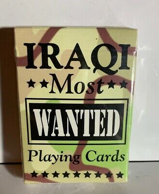 """New SEALED Desert Storm """"Iraqi Most Wanted"""" Hoyle Playing Cards USA (Free Ship)"""