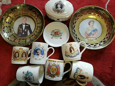Collection Of British Royal Memorabilia, China/porcelain, brass