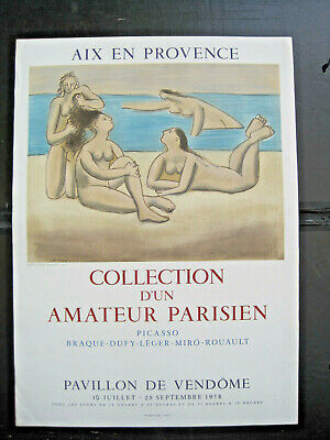 Collection d'un amateur Parisienne, Picasso, Ausstellungsplakat 1958, Aix en Pro