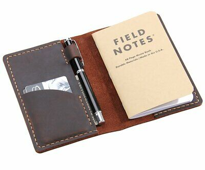 Leather Journal Cover For Field Notes, Moleskine Cahier Cover, Handmade Vintage