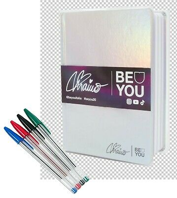 Diario Agenda BE YOU 2019/2020 by Elisa Maino cm.18.5x13.5 con 4 penne BIC in OM