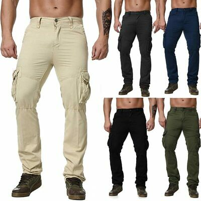 Army Loose Combat Men Cargo Pants Soft Outdoor Cotton Military Camping Trousers