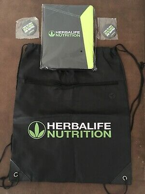 Herbalife Nutrition Marketing Starter Kit Journal Bag And Pins Read Description