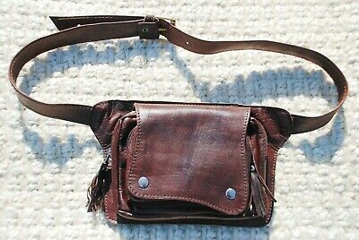 Dark Brown Belt Bag, Fanny Pack for Women, Hip Bag Genuine Leather, Waist Pack