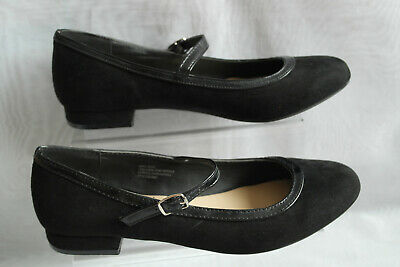 LILLEY Girls Black School Shoes Buckle Fastening Formal Party/Mary Jane Style
