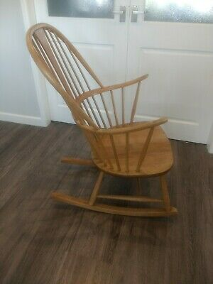 Vintage/Retro Original Chairmakers Rocking Chair by Ercol. Finished in Elm/Beech