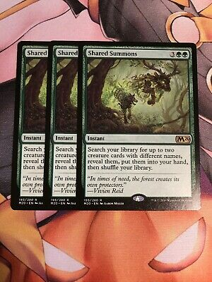 x1 Shared Summons MTG Core Set 2020 R M/NM, English