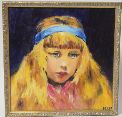 """Painting Maria Martyushova """"Portrait of a Girl"""". Russia, Moscow"""