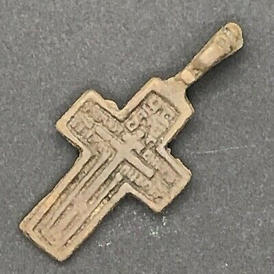 Authentic Byzantine Cross Pendant Late Medieval Artifact European Orthodox A1