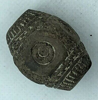 Antique Clay Spindle Whorl Bead Pre Columbian Or African Style Old Artifact C