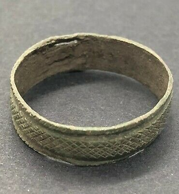 Ancient Or Medieval Wedding Ring European Metal Detector Find Artifact Antique E