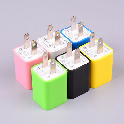 2-Port USB OUTPUT Wall Charger US Plug Travel Power Adapter For Cell Phone