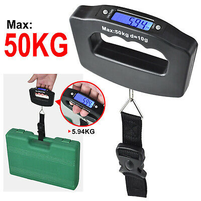 Portable Electronic Hanging Digital Luggage Travel Weight Scale Handheld 110LB G