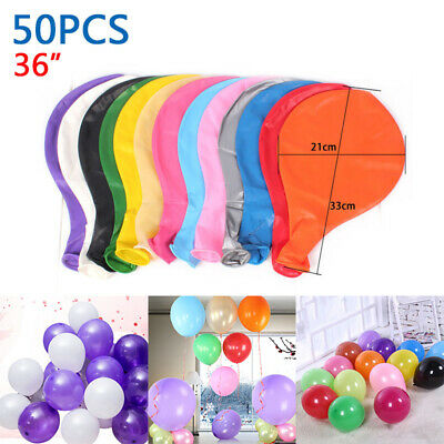 50Pcs Colorful Pearl Latex Balloon Celebration-Party Wedding Birthday 36 Inch