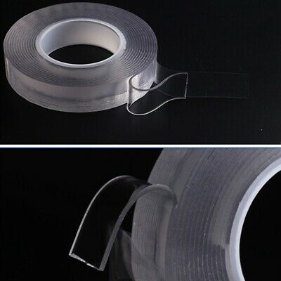 Double Sided Invisible Clear Thin Sticky Tape DIY Strong Craft Adhesive New
