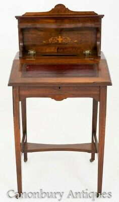 Victorian Desk - Rosewood Writing Table 1880