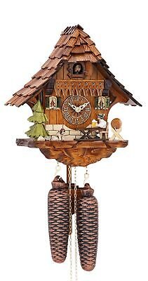 Cuckoo Clock Black Forest house with moving beer drinker KA 889 NEW