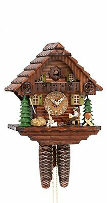 Cuckoo Clock Black Forest house with moving beer drinker KA 879 NEW