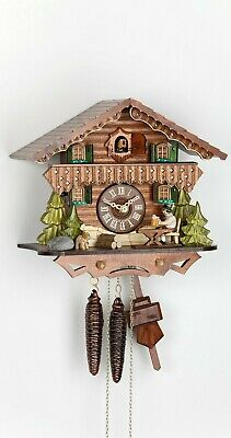 Cuckoo Clock Black Forest house with moving beer drinker KA 1672 NEW