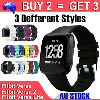 For Fitbit Versa Replacement Band Silicone Wrist Sports Strap Band Wristband