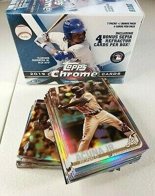 2019 Topps Chrome Sepia Refractor YOU PICK COMPLETE YOUR SET FREE SHIPPING