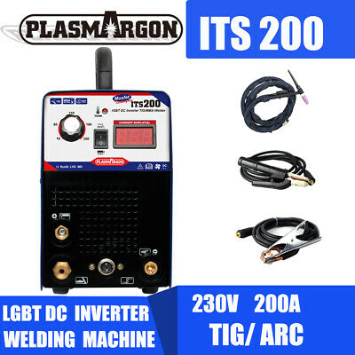 200 Amp TIG ARC Welder Inverter  IGBT MMA 240V DC Portable Welding Machine