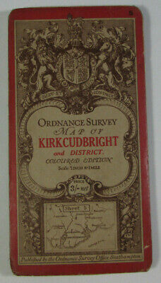 1906 Old Antique OS Ordnance Survey One-Inch Third Edition Map 5 Kirkcudbright