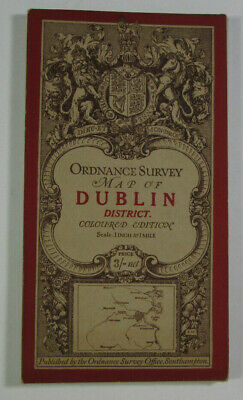 1918 Old OS Ordnance Survey Ireland One-Inch Third Edition Map Sheet 112 Dublin