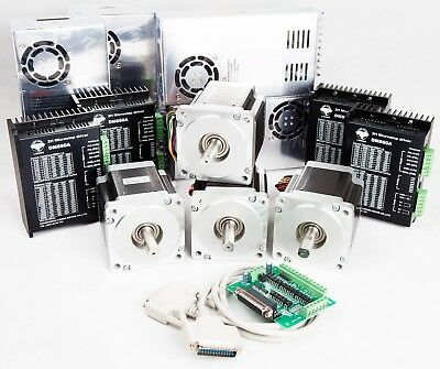 4Axis NEMA34 Stepper Motor 878oz.in 2A Driver controller CNC kits