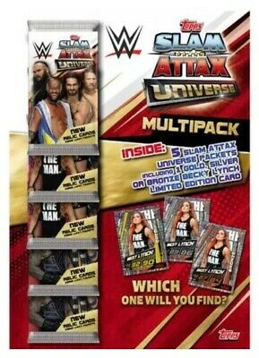 Slam Attax Universe Multipack Cards - Include Limited Edition Becky Lynch Card