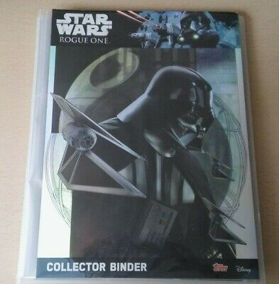 STAR WARS : ROGUE ONE - Complete MASTER Set Topps Trading Cards + Extras DISNEY