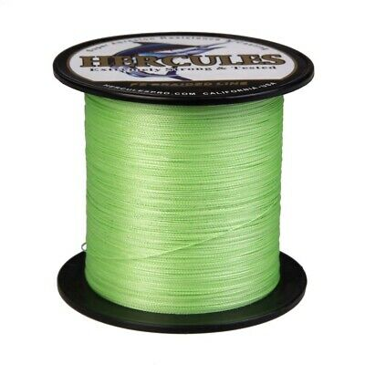 Army Green PE Braided Fishing Line Hercules Extreme Mainline 6-100lbs 330 Yards