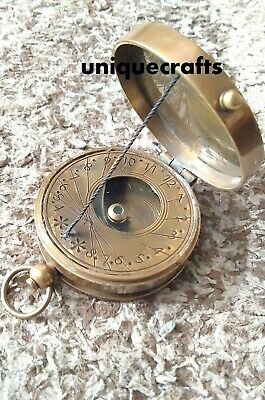 Antique Brass Sundial Compass Lord Kelvin Compass Collectible Item.