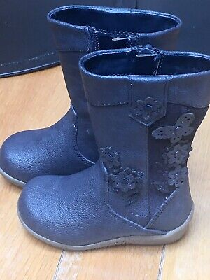 Debenhams Bluezoo girls toddler dark navy boots size Uk 4 EUR 20 New No Tags