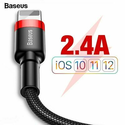 Baseus Fast Charging USB Lightning Cable For iPhone XS Max XR X 8 7 6 5 SE iPad