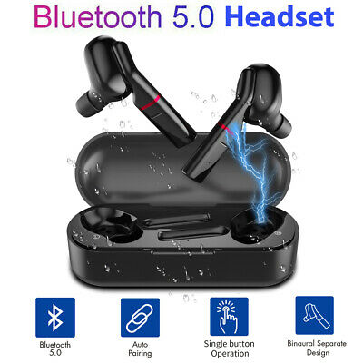 CA Bluetooth 5.0 Headset TWS Wireless Earphones Twins Earbuds Stereo Headphone