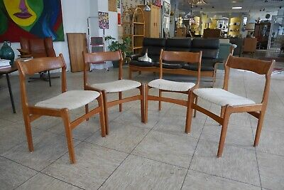 4x Teak Stühle Stuhl Dining Chair ERIK BUCH (BUCK) Danish Design