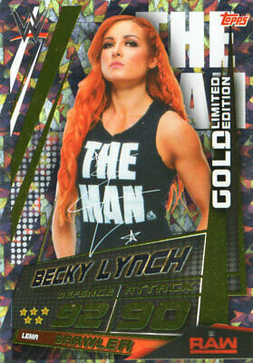 Topps Wwe Slam Attax Universe - Becky Lynch Gold Limited Edition Card Lema
